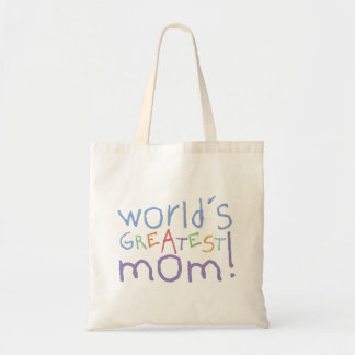 Kids World's Greatest Mom Cotton Canvas Tote Bag