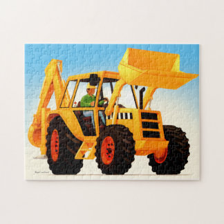 Kid's Yellow Digger Puzzle