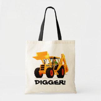 Kids Yellow Digger Tote Bag