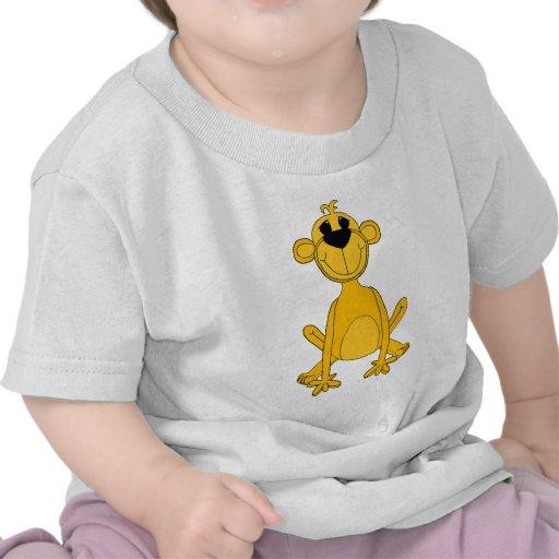 Kid's Yellow Monkey T Shirt