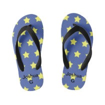 Kids yellow-star flip flops