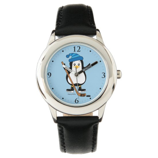 Kids Youth Hockey Penguin Player Watch