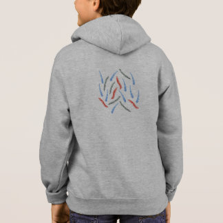 Kids' zip hoodie with watercolor branches