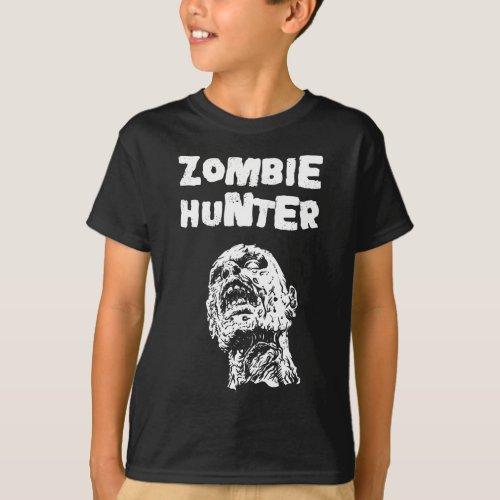 Kids Zombie Hunter Horror Tshirt _ Walking Dead