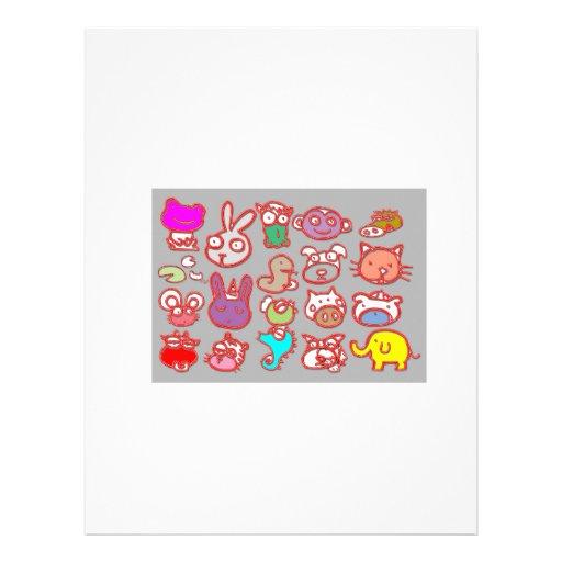 KIDS ZOO : Animal Cartoon Collections Letterhead