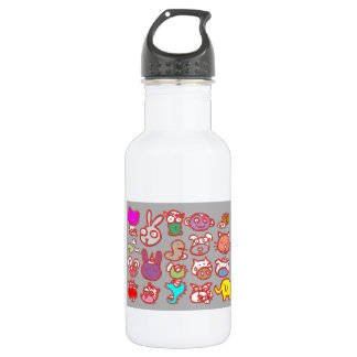 KIDS ZOO : Animal Cartoon Collections 18oz Water Bottle