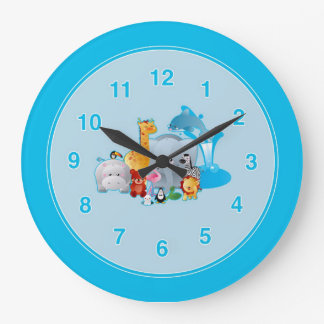 Kids Zoo Animals Wall Clock