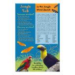 "Kid's Zoo Birthday Party Activity Sheet 5.5"" X 8.5"" Flyer"