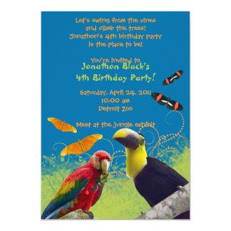 Kid's Zoo Birthday Party Invitation