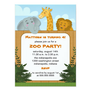 Zoo birthday party invitations announcements zazzle kids zoo birthday party invitations filmwisefo