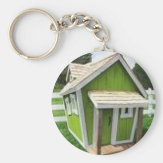 kidscrookedhouse basic round button keychain