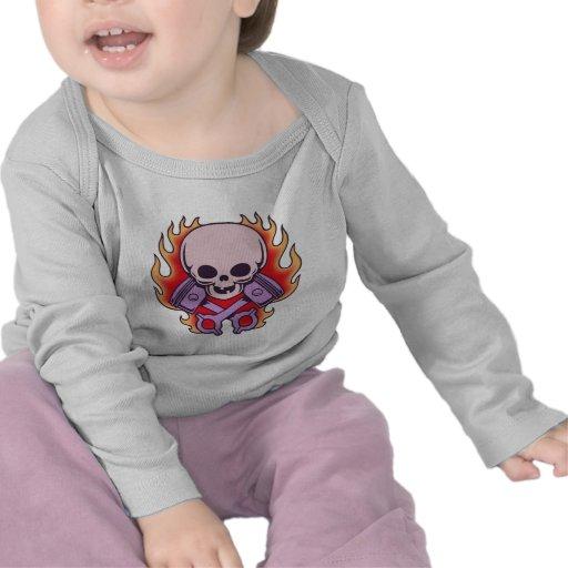 Kidskull y pistones cruzados camiseta