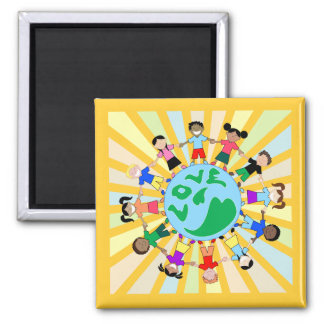 KidsLoveGlobe Imán Cuadrado