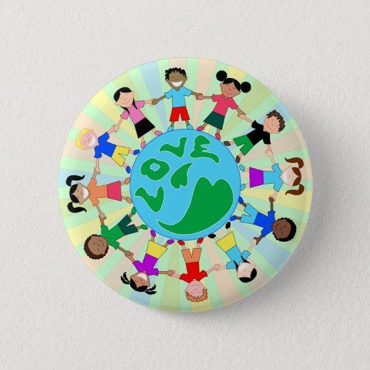 KidsLoveGlobe Pinback Button