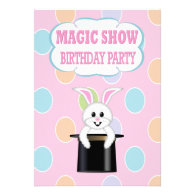 KidsMagic Show Birthday Party Invitations