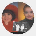 kidsslide.jpg classic round sticker