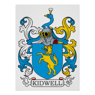 Kidwell Family Crest Poster
