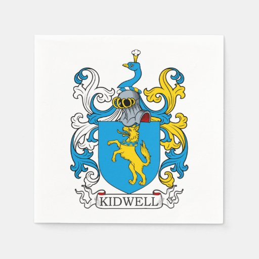 Kidwell Family Crest Standard Cocktail Napkin