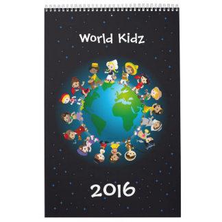 Kidz del mundo calendarios de pared