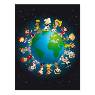 Kidz del mundo tarjetas postales