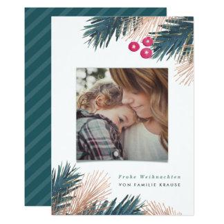 Kiefer und Beeren Weihnachten Card
