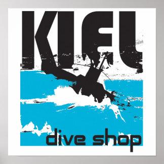 Kiel Dive Shop Canvas Poster