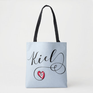 Kiel Heart Grocery Bag, Germany Tote Bag