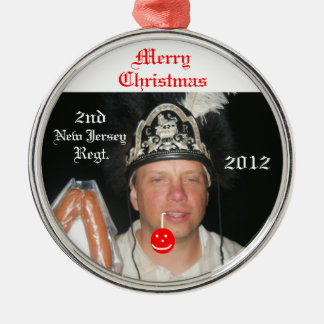 Kielbasa Christmas Round Metal Christmas Ornament