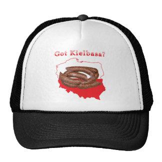 Kielbasa conseguido mapa polaco gorras de camionero