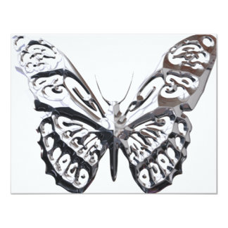 "Kiere_Chrome_Butterflies_5 Invitación 4.25"" X 5.5"""