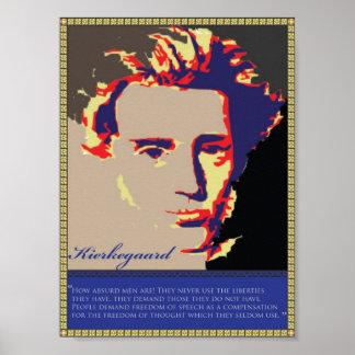 Kierkegaard Faded Poster
