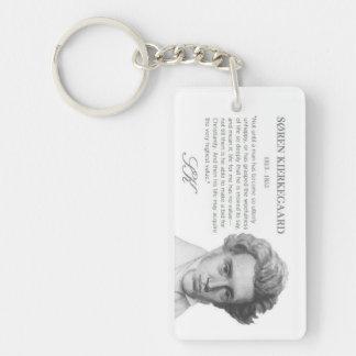 Kierkegaard—Life's Highest Value Keychain