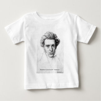 "Kierkegaard ""Love Yourself"" Love Quote Gifts Etc Baby T-Shirt"