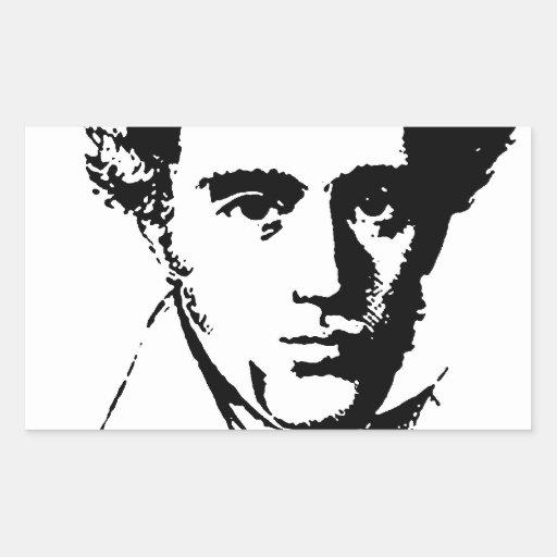 Kierkegaard Rectangular Sticker