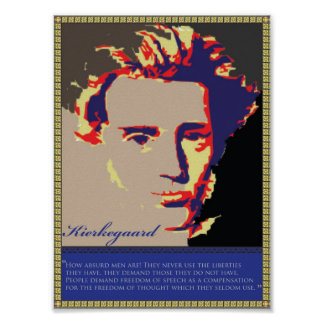 Kierkegaard se descoloró póster