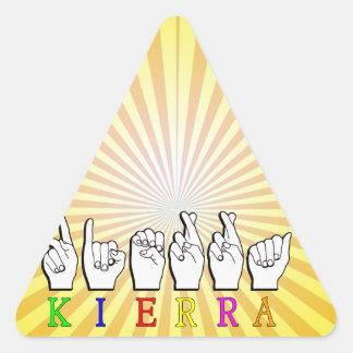 KIERRA  ASL FINGERSPELLED TRIANGLE STICKER