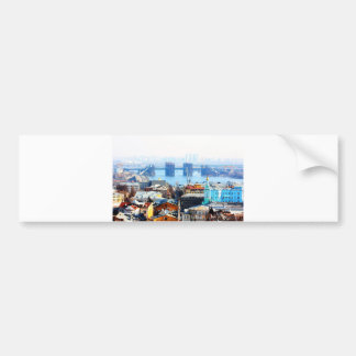 Kiev bussines and industrIal city Bumper Sticker