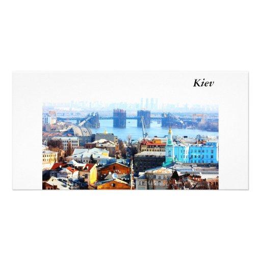 Kiev bussines and industrIal city, Kiev Customized Photo Card