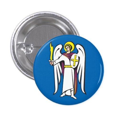 Kiev City COA, Ukraine Button