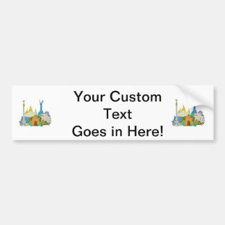 kiev city graphic watercolour travel design.png bumper stickers