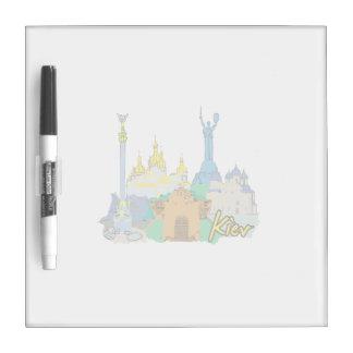 kiev city graphic watercolour travel design.png Dry-Erase board
