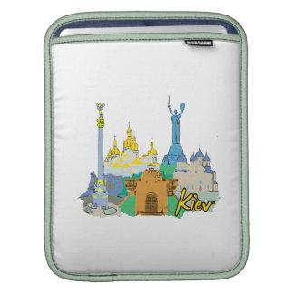 kiev city graphic watercolour travel design.png iPad sleeve