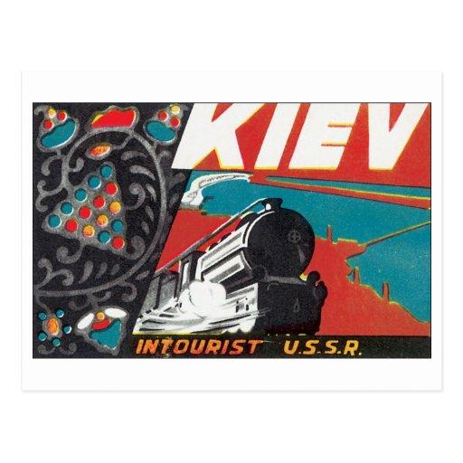 Kiev Intourist URSS Tarjeta Postal