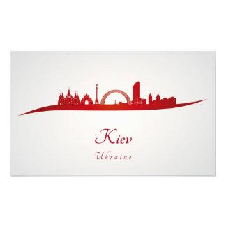 Kiev skyline in red cojinete