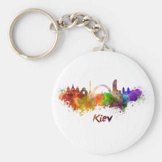Kiev skyline in watercolor llavero personalizado