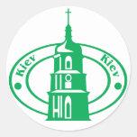 Kiev Stamp Round Sticker