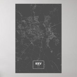 Kiev, Ucrania (blanca en negro) Poster