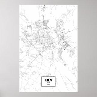 Kiev, Ucrania (negro en blanco) Impresiones