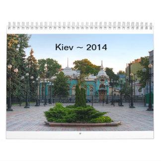 Kiev Ukraine Calendar 2014