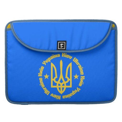 Kiev, Ukraine - English & Ukrainian Language Sleeves For MacBook Pro